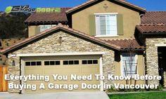 Garage Door Company, Garage Door Repair, Garage Doors, Buy A Garage, Westminster, Vancouver, Need To Know, Everything, Minimalism