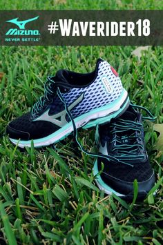 A review of the new Mizuno Wave Rider 18 running shoes. #WaveRunner18 #FitFluential