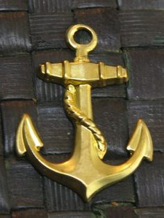 Anchor Gold Plated Charm -  5 pcs