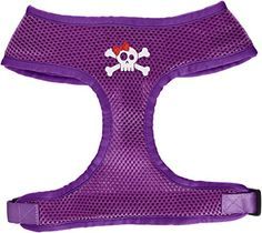 Mirage Pet Products Skull Bow Screen Print Soft Mesh Dog Harnesses Small Purple >>> You can get more details by clicking on the image.Note:It is affiliate link to Amazon.