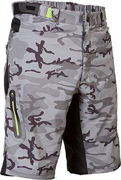 ZOIC Men's Ether Shorts, Grey Camo, Medium - http://ridingjerseys.com/zoic-mens-ether-shorts-grey-camo-medium/