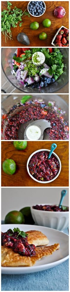 Blueberry Lime Salsa - things to bring to a dinner party that suit paleo and non paleo guests