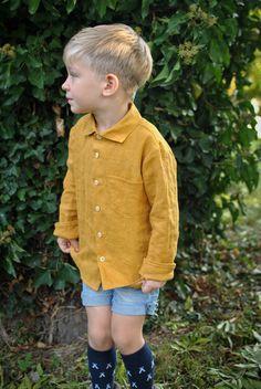 Mustard linen shirt for boys Heavenly, Mustard, Boys, Shirts, Products, Women, Style, Fashion, Baby Boys