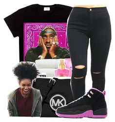 """""""Juke jam///Chance the rapper"""" by maiyaxbabyyy ❤ liked on Polyvore featuring MICHAEL Michael Kors"""