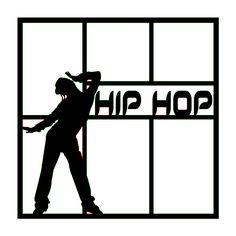 Dance Hip Hop Scrapbooking Die Cut Overlay