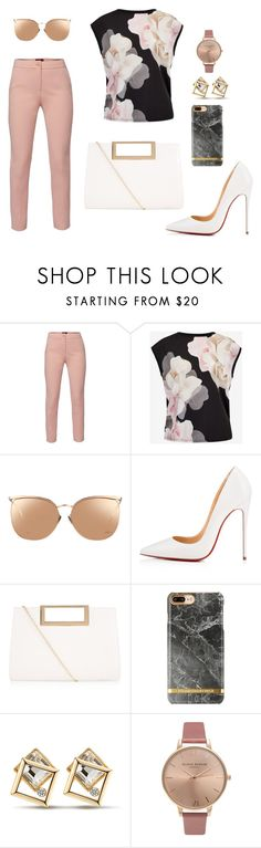 """""""Untitled #383"""" by chilosa3325 on Polyvore featuring WtR, Ted Baker, Linda Farrow, Christian Louboutin, New Look and Olivia Burton"""