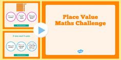 A fantastic presentation to teach place value in units, tens and hundreds. Challenge your class with each place value activity / activities! Place Value Activities, Math Challenge, Place Values, Maths, Presentation, Challenges, The Unit, Number, Teaching