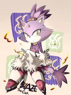 (Sonic): Blaze the cat Sonic The Hedgehog, Silver The Hedgehog, Shadow The Hedgehog, Sonic Fan Characters, Video Game Characters, Blaze The Cat, Character Art, Character Design, Manga Anime