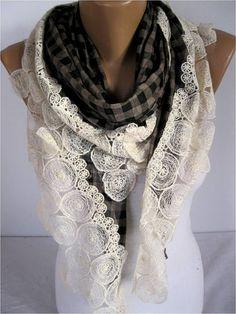 NEWScarf Elegant scarf  Fashion scarf  scarf with by MebaDesign,