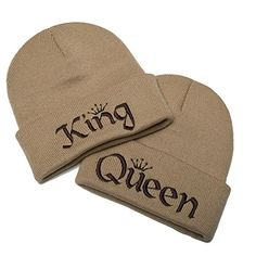 7690670d7f5 Amazon.com  King and Queen Hats Couples Clothing One Size Beige  Clothing
