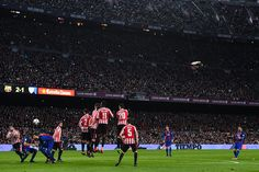 Lionel Messi of FC Barcelona scores his team's third goal during the Copa del Rey round of 16 second leg match between FC Barcelona and Athletic Club at Camp Nou on January 11, 2017 in Barcelona, Catalonia.