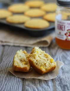 Honey Cornbread Muffins: perfectly moist and naturally sweetened with honey! #glutenfree #dairyfree www.makingthymeforhealth.com