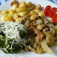 Fotografie receptu: Kuřecí na houbách Potato Salad, Hub, Potatoes, Meat, Chicken, Ethnic Recipes, Food, Potato, Essen