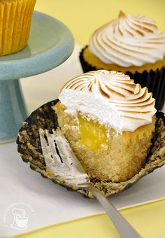 Cupcake de torta de limão do Cupcakeando.