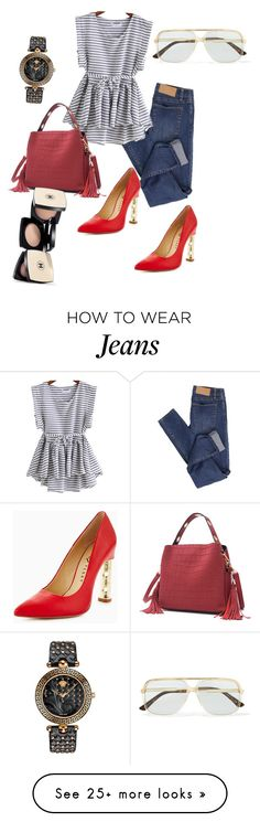 """Elegancia en jeans"" by carolortiz on Polyvore featuring Cheap Monday, Versace and Gucci"