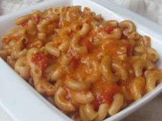 Macaronis à la soupe aux tomates | Bedon Gourmand Macaroni And Cheese, Crockpot, Lunch, Cooking, Ethnic Recipes, Desserts, Food, Risotto, Meals