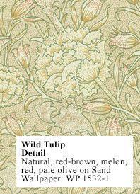 Charles Rupert Designs - Historic Wallpapers - wild tulip