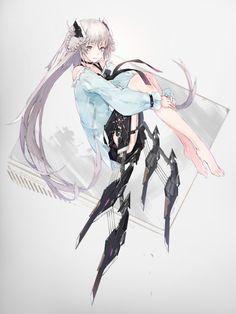 anime, anime girl, and art image Female Character Design, Character Concept, Character Art, Anime Illustration, Character Illustration, Illustrations, Art Manga, Manga Anime, Cyborg Anime
