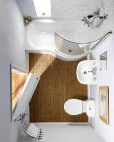 Kleines Bad einrichten - nehmen Sie die Herausforderung an! - http://freshideen.com/badezimmer-ideen/kleines-bad.html