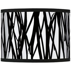 Sketchy giclee lamp shade 135x135x10 spider products lamps black jagged stripes giclee glow shade 135x135x10 spider mozeypictures Gallery