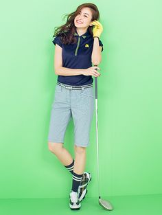 ❤ Womens Golf Wear, Golf Style, Golf Fashion, Golf Outfit, Ladies Golf, Sport Outfits, Capri Pants, Tees, Lady