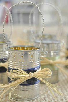 más y más manualidades: Cómo decorar latas con asas de alambre