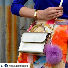 #Repost @hellokatiegirlblog with @repostapp.  Happy Friday! Just a little glimpse at what's coming up this weekend #ontheblog ...I'm seriously addicted to this fur Pom Pom from @yogastudio55 but unfortunately so is my dog William! He thinks it's a toy!  #katespade #katespadeny #hm #furpompom #abmlifeiscolorful #igstyle #igfashion #style #stylegram #styleblogger #fashion #fashiongram #instafashion #fashionpost #bag #bagoftheday#furpompomkeychain