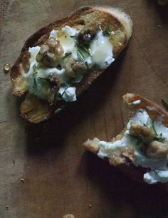 Goat Cheese and Honey Walnut Bruschetta