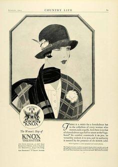 1925 Ad Knox Womens Hatter (via periodpaper on eBay)