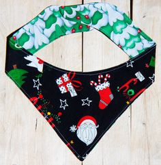 Even the fur baby can be put into the #Ugly Sweater Party theme, with these neck scarves