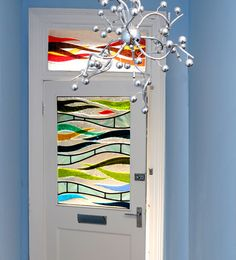 Fused glass art door panel. Scotland. by RDW Glass, via Flickr