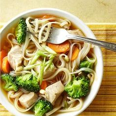 Thai Noodle BowlThai Noodle Bowl for Turkey Leftover s- Here's a quick fix: Stir lean chunks of turkey into a soup made from chicken broth, pad thai noodles, broccoli, carrots, and bean sprouts.