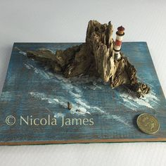 The Impossible Rock. https://www.etsy.com/uk/listing/462572071/the-impossible-rock-driftwood-art #beach #woodworking #woodturning #woodturner #driftwood #driftwoodbeach #driftwooddecor #driftwoodartist #driftwoodart