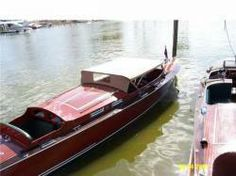 Fish Bros custom, a mahogany speed boat you can have sleepovers in...
