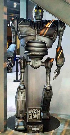Now Available! The Life-Size 8 foot tall Iron Giant from Fred Barton Productions as seen at the WB booth at Comic Con 2015. www.the-robotman.com