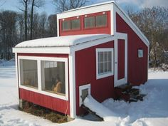 Open Air Coop - designed and used in cold climates. Designed in 1912!