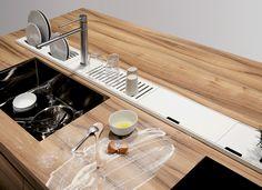 #kitchen Решение Domusomnia - canale attrezzato per piani di lavoro