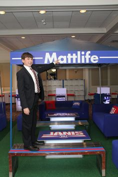 Personalized Bar Mitzvah Football Theme by The Event of a Lifetime - mazelmoments.com