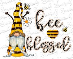 Gnome Paint, Bee Art, Bee Crafts, Christmas Gnome, Bee Happy, Mason Jar Crafts, Blessed, Clipart, Painted Rocks