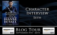 Sheldon is interviewing Seth (from BLADE OF DARKNESS) over at Jeri's Book Attic. Hop over, join the fun and enter to #win a $50 #Amazon #Giftcard, a $25 Amazon Gift Card, or an awesome Immortal Guardians Prize Pack! http://jerisbookattic.com/blade-of-darkness-immortal-guardians-book-7-by-dianne-duvall  #giveaway #paranormalromance #romance #fantasy #vampire #booklover #bookaddict #action #comedy #humor #blogtour #NewRelease #mustreads