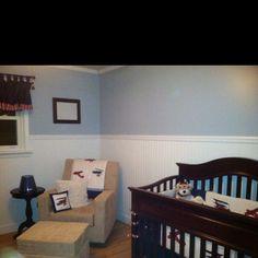 Baby boy airplane nursery
