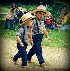little Amish men