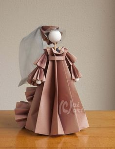 Origami Costume about 1400. made by Anneke Kingma.