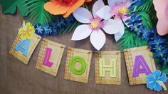 Luau Party banner made with printable from Epic Parties by REVO