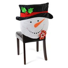 Snowman Chair Cover ~~$12,99~~Darling!