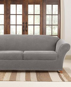 sure fit stretch pique 2 cushion sofa slipcover slipcovers for the home macyu0027s