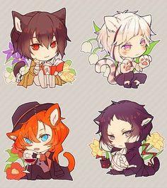 Bungou Stray Dogs Characters, Chibi Characters, Fairy Tail Art, Animal Jam, Bongou Stray Dogs, Tsundere, Cute Anime Boy, Manga, Anime Chibi
