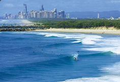 the joint is mind-bending! Travel Around The World, Around The Worlds, World Surf League, Stradbroke Island, Western Australia, Holiday Destinations, Gold Coast, Waves, Adventure