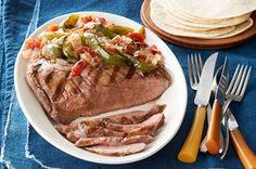 Grilled Flank Steak & Vegetable Trio Recipe - Kraft Recipes