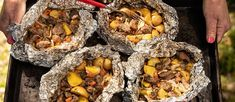 How To Bake Yellow Potatoes In Oven ` Bake Yellow Potatoes In Oven Potatoes In Oven, Steak Potatoes, Yellow Potatoes, Foil Packet Dinners, Foil Dinners, Beef Recipes, Cooking Recipes, Grilled Recipes, Grilled Food
